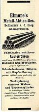 Elmore's Metall-Aktien-Ges. Schladern a.d.Sieg  Historische Reklame von 1912