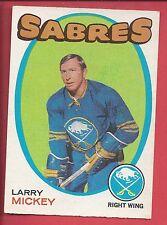 1971-72 O-Pee-Chee Hockey # 167 LARRY MICKEY