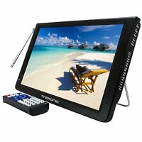 "TREXONIC PORTABLE 12"" WIDESCREEN LED DIGITAL TV 12V AC/DC HDMI USB SD REMOTE"