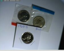 1969 PDS Quarters Washington Unc in mint cello and Proof