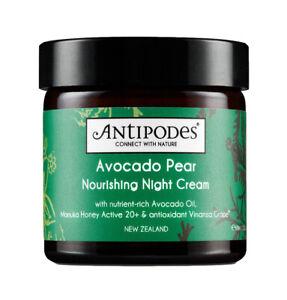 Avocado & Pear Nourishing Night Cream - Antipodes - 60ml - Free Shipping