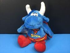 Rare Superhero Supertoro Blue Bull Superman Plush Window Cling 8� Stuffed Animal