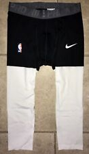 NIKE PRO COMBAT NBA TEAM ISSUED NEVER RELEASED BLACK WHITE TIGHTS LEBRON MEDIUM