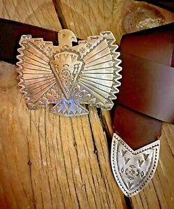 Vintage RRL Concho Thunderbird Belt Buckle by Sundance Artist