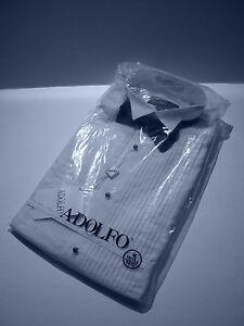 "Adolfo 1/4"" pleat tuxedo shirt size medium 15/33"