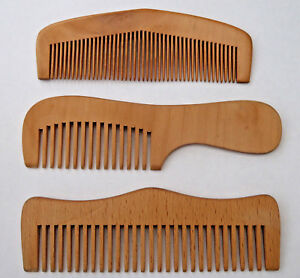 Delightful Hand Carved Wooden  Combs * ANTI STATIC * 2 Styles