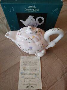 Vintage Johnson Bros. Summer Chintz Series 1 Swan Teapot