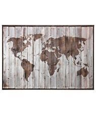"Ikea Premiar Driftwood World Map. 78 3/4"" X 55"". New In Box. Discontinued."