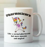 Pharmacist Unicorn funny job coffee mug, Gift for coworker leaving retirement