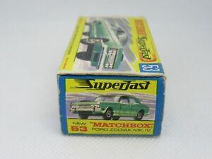 Matchbox Superfast 53a Ford Zodiac Mk.IV - RARE MIS-SPELT 'ZODIAK' BOX