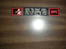 CHUCK LIDDELL (UFC) ENGRAVED NAMEPLATE FOR PHOTO/POSTER/GLOVES/TRUNKS