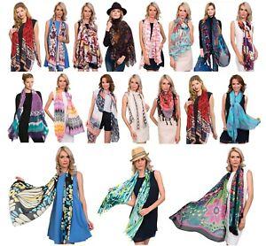 Pia Rossini - Ladies Designer Lightweight Viscose Summer Fashion Scarf Scarves