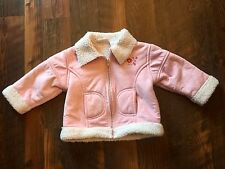 Size 18m pink FAUX SUEDE FAUX WOOL LINED ZIP UP jacket by B.T. KIDS