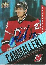 MIKE CAMMALLERI *Signed* 2015-16 *TIM HORTON'S CARD* NEW JERSEY DEVILS NEW!!!