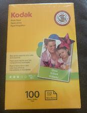 Brand New KODAK Photo Paper 4x6 100 Sheets Sealed Gloss Finish