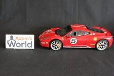 Hot Wheels Elite Ferrari 458 Italia Challenge 1:18 #5 red (PJBB)