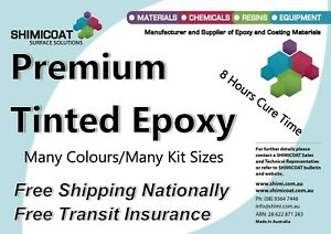 Tinted Marine Epoxy 2 Pack in many colours, Industrial Quality 3A:1B,  Easy DIY