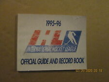 Ihl Vintage Defunct Circa 1995-96 Official Guide And Record Book