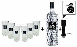 Three Sixty Set Geschenkset ? Three Sixty Wodka Vodka 3L 3000ml (37,5% Vol) + P