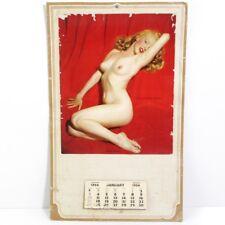 "VINTAGE 1954  MARILYN MONROE "" GOLDEN DREAMS ""  PULL AWAY NUDE CALENDAR 15.5 x 9"