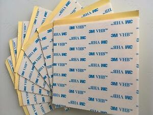 3M VHB 5608A 100 x 100mm White Acrylic Foam Double Sided Attachment HQ