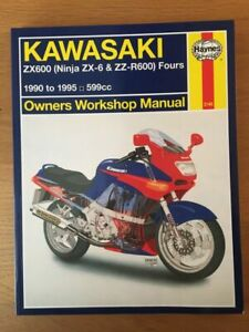 Kawasaki ZX600 ZX6 ZZR600 Workshop manual Haynes 1990-1995 , See below