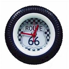 Route 66 Rubber Tyre Table Clock 6404 RO1