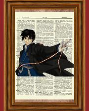 Roy Mustang Fullmetal Alchemist Anime Dictionary Art Print Poster Full Metal
