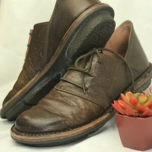 Trippen Women's Brown Leather with Extra Thick Sole Low Top Comfort Shoes US 9