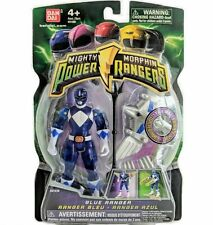 """Mighty Morphin Power Rangers blue 4"""" with Light up Dino Fly 2010 New TRANSPARENT"""