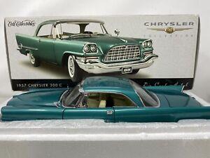 1/18 ERTL 1957 Chrysler Collection 300C Green Part # 32503M READ