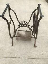 More details for antique cast iron wanzer sewing machine base