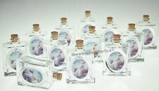 12 Pc Baptism Holy Water Glass Bottle Recuerdos De Bautizo Christening Vidrio
