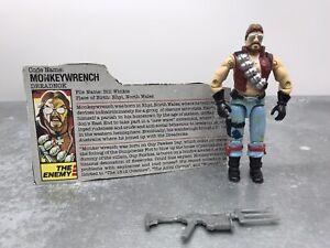 Figurine GI Joe Cobra Dreadnok  Monkeywrench V1 Complete- Hasbro 1985