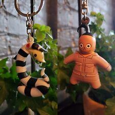 2 Horror Properties Figural Keyring Keychains Beetlejuice head snake