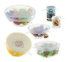 Silicone Stretch Lids Huggers Covers reusable for food- 6 Pack