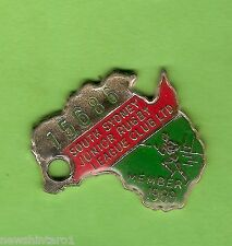 1989  SOUTH SYDNEY JUNIORS   RUGBY  LEAGUE  CLUB  MEMBER  BADGE #15686