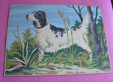 Paint by Number Hunting Dog Vintage PBN Missing Leg English Setter Pointer Bird