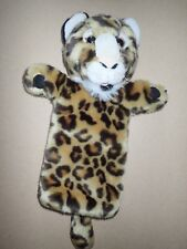 """THE PUPPET COMPANY Large LEOPARD Long Sleeved Hand Puppet Soft Plush Toy 14"""""""