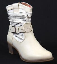 Hush Puppies Ankle Boots 40 LEDERimitat Stiefelette Creme Beige Relife Shock NEU