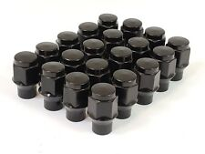 20 Pc BLACK ET BULGE AFTERMARKET WHEEL ACORN LUG NUTS M12x1.50 # 7807BK