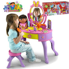 Dora the Explorer Let's Get Ready Vanity Pretend Play Mirror Set Girl Songs Toy