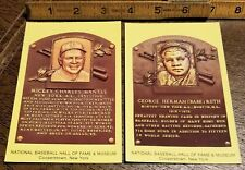 1993 BASEBALL HALL OF FAME POSTCARD LOT-NEW YORK YANKEES Mickey Mantle-Babe Ruth
