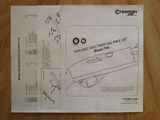Crosman 766 O-Ring Seal Kit + Exploded View & Parts List + Seal ID Guide