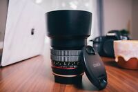 Rokinon 85mm f/1.4 AS IF UMC Lens for Canon EF with AE Chip