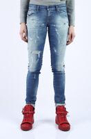 $348 Diesel D.N.A. Women's Grupee Super Slim Skinny Jeans 0670P Ripped Size W29