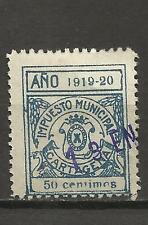 7336-SELLO LOCAL CARTAGENA MURCIA AÑOS 1919-20.USADO,RARO,SPAIN REVENUE CLASSIC