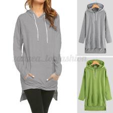 Womens Long Sleeve Hoodies Sport Sweatshirt Jumper Pullover Tops Long Shirts Top