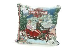 "Harley-Davidson 1 Throw Pillow 16"" x 16"" Cushion"