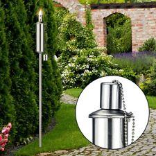 Edelstahlfackel Edelstahl Garten-Fackel Gartenfackel mit Sicherheitskappe 120 cm